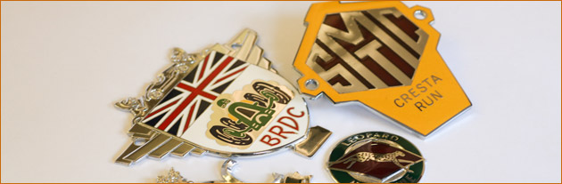 Enamelled Car Badges